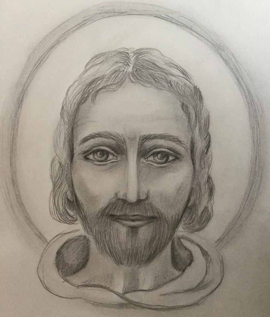 Portrait von Jesus - von Herzbewohnerin Annamiriam