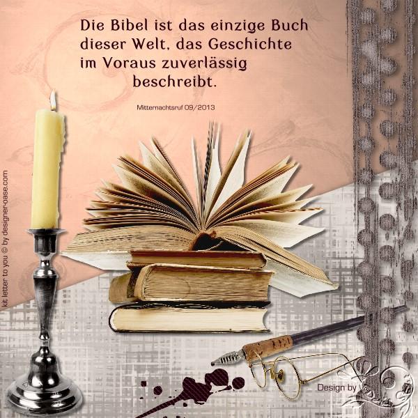 Doro 3 Die Bibel ist das einzige Buch dieser Welt das Geschichte im Voraus zuverlaessig beschreibt