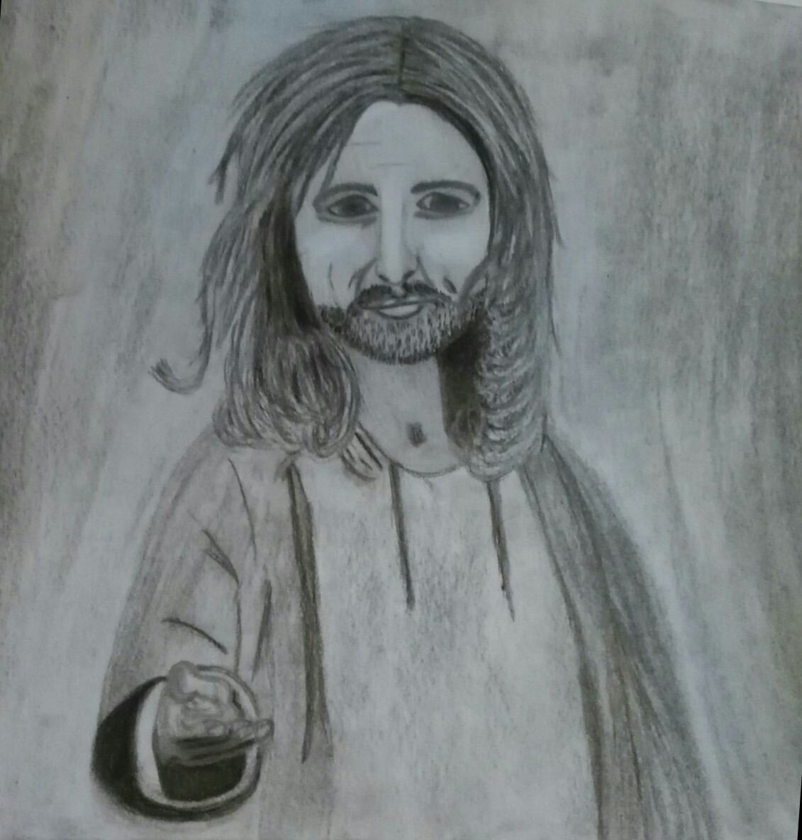 Jesus Christus streckt seine Hand aus nach uns