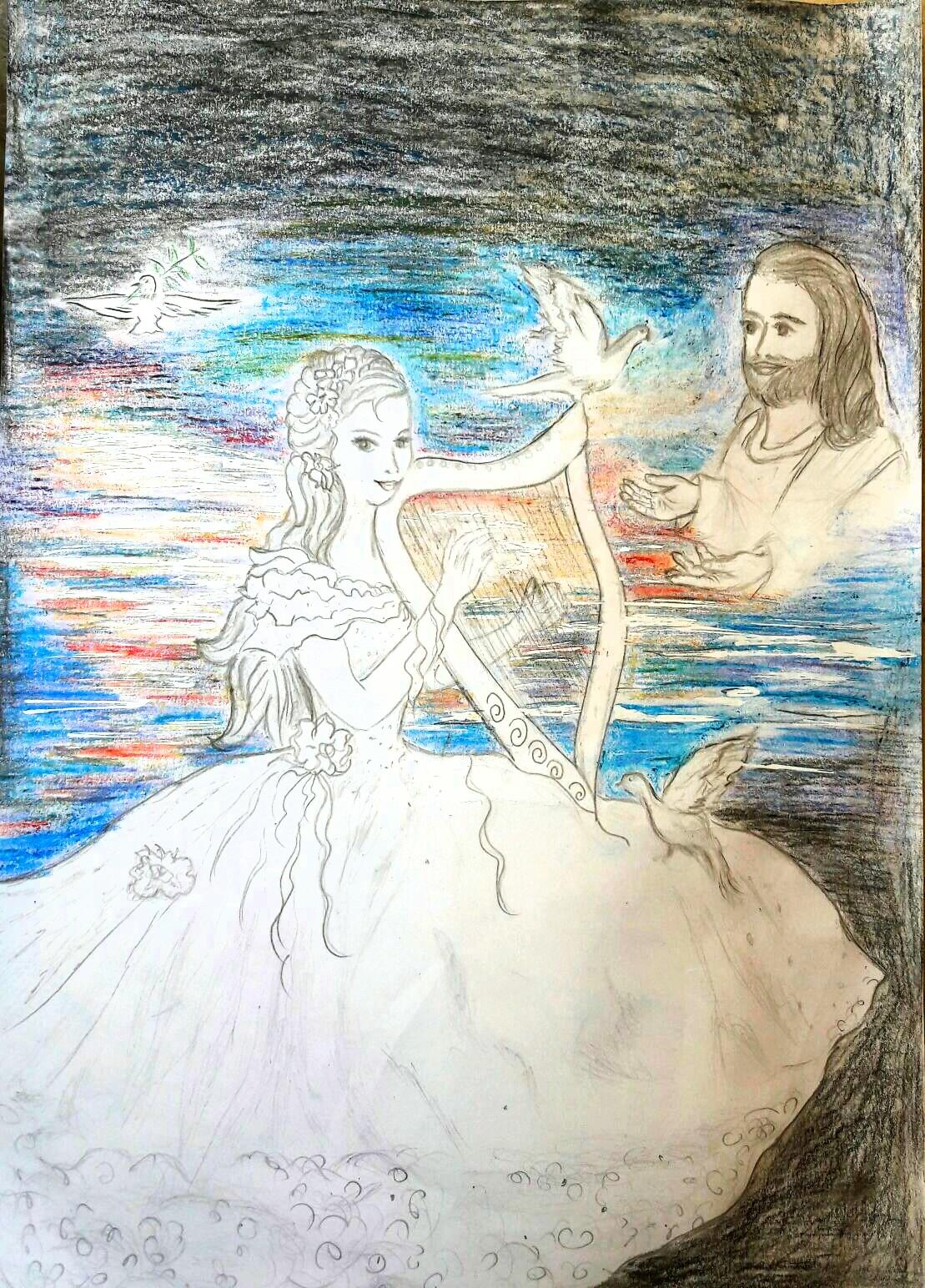 Die Braut spielt für Jesus und er möchte sie sehnsüchtig empfangen