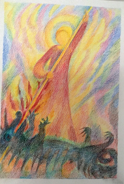 Licht kämpft gegen Finsternis. Das Licht wird siegen in Jesu Namen. in Liebe Annamiriam